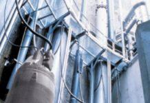 Рис. 2. Линейка погружных насосов на напорном патрубке ограничена производительностью 2 000...2 500 м3/ч и давлением 0,8...1,0 МПа