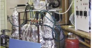 Рис.2. Лабораторная установка газификации твердых топлив по технологии ФАСТ ИНЖИНИРИНГ®
