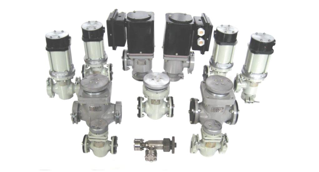Рис. 1. Новые вакуумные клапаны, соответствующие стандартам ISO