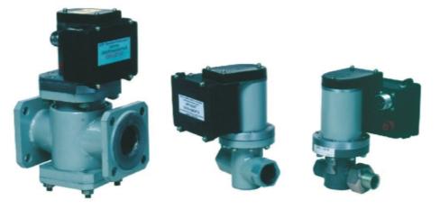 Рис. 5. Клапаны серии КЭП-Г (нормально закрытые) DN-50, 20, 10 мм