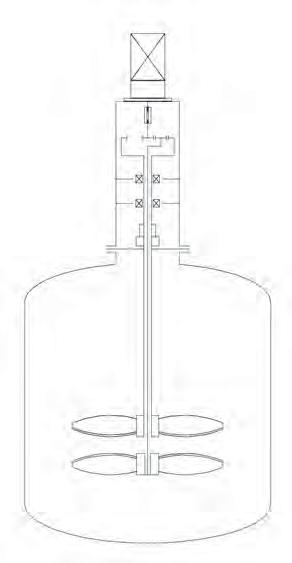 Рис. 1. Схема конструкции перемешивающего устройства