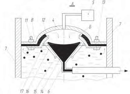 Рис. 1. Силовой инерционный фильтр для очистки сточных вод от твердых частиц загрязнений
