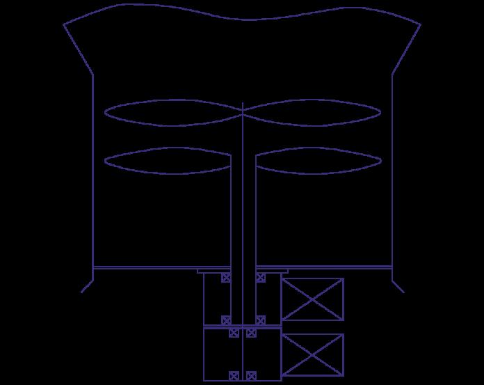Рис. 1. Схема привода с планетарным редуктором на коаксиальных валах