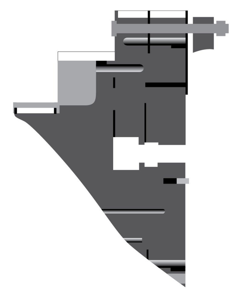 Рис. 1. Схема части формующей головки с переходниками в сборе