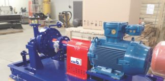 Насосный агрегат с магнитной муфтой RPHmdp в сборе