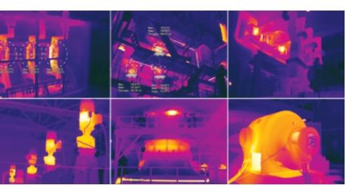 Рис. 1. Примеры обнаруженных тепловизором дефектов