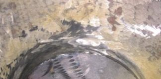 Внешний вид отремонтированного узла с установленной заглушкой: а – вид изнутри; б – вид снаружи аппарата