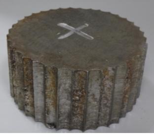 Рис. 1. Внешний вид темплета диаметром 100 мм, вырезанного из стенки аппарата