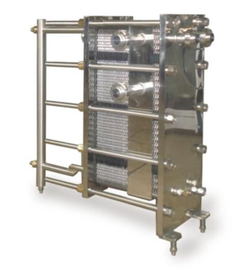 Разборный  пластинчатый  теплообменник для пищевой промышленности