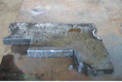 Рис. 2. Контрольная вырезка основного металла барабана котла