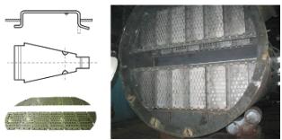 Рис. 2. Клапанная тарелка конструкции НПК «Кедр-89»