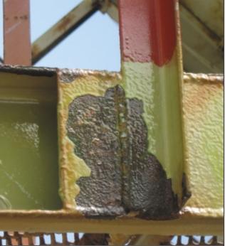 Рис. 3. Поверхность, обработанная  герметиком Rustbond Penetrating Sealer