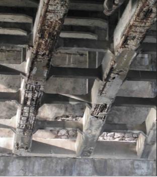 Рис. 5. Поврежденный бетон