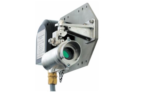 Рис. 2. Инфракрасный датчик с открытым оптическим трактом применяется для горючих и токсичных газов, использует инфракрасную и лазерную технологию в форме широкого пучка лучей и измеряет общее число молекул газа в пучке