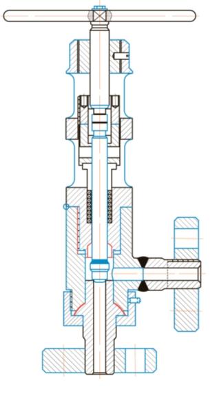 Рис. 1. Клапан угловой: а – общий вид; б – патрубок клапана