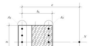К расчету внецентренно сжатой колонны