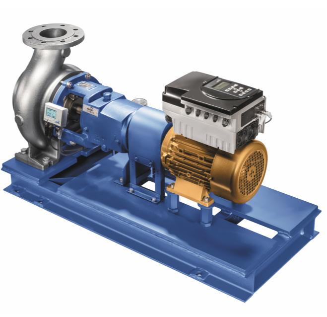 Химический насос MegaCPK, оснащенный двигателем SuPremE и частотным преобразователем PumpDrive