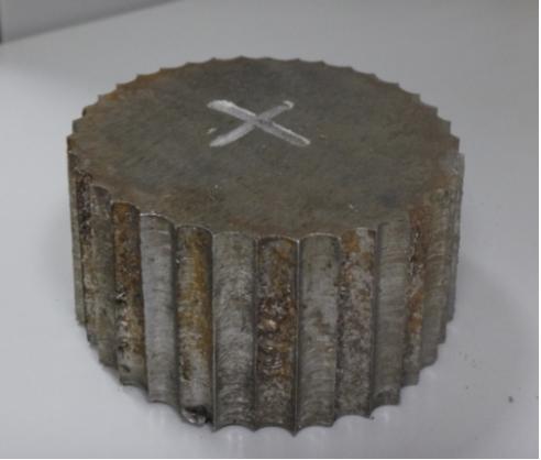 Рис. 1. Темплет, вырезанный из стенки пропановой колонны К-1
