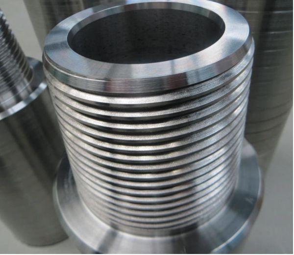Комплект труба–муфта из стали Magnadur с нанесенным износостойким минеральным покрытием