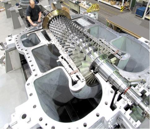 Рис.3. Осевой компрессор производительностью 1230 т в сутки для процесса с двойным давлением