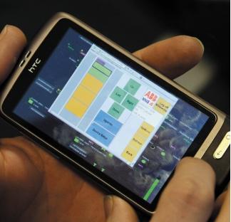 Рис. 7. Смартфоны HTC используются в качестве приборов, на которых запускается система 800xA