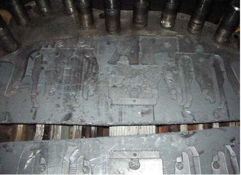 Рис. 4. Отпечатки на низкоплотных матах ТРГ