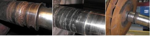 Рис. 1. Примеры предельных состояний деталей насосно- компрессорного оборудования после длительной эксплуатации