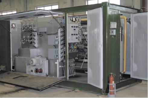 Криогенное отделение кислородоазотодобывающей станции ТКДС-100В