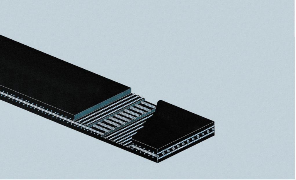 Элеваторная лента AUMUND с тремя слоями армирования металлическими тросами
