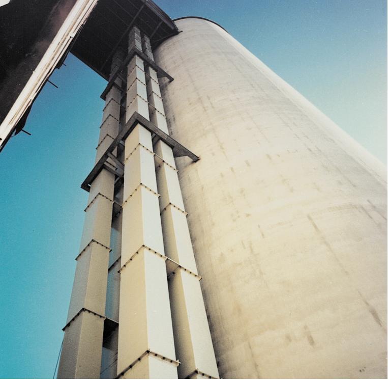 Самонесущая конструкция элеватора высотой до 180 м