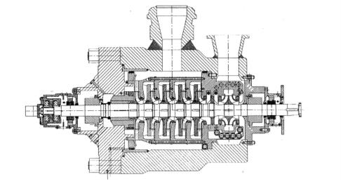 Рис. 5. Крупный питательный насос типа MBFP компании FLOWSERVE