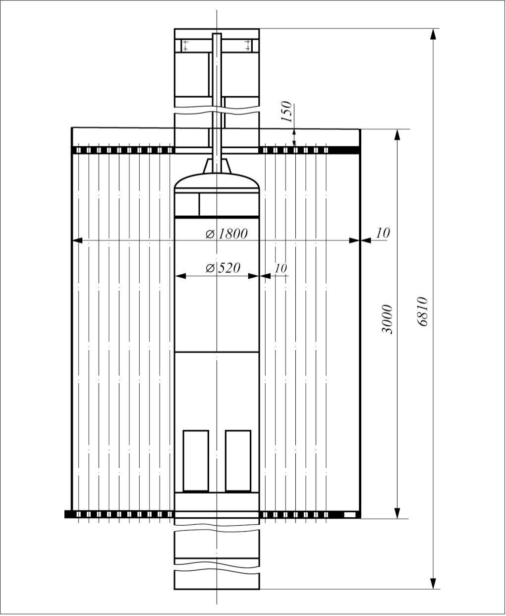 Рис. 1. Общий вид трубного пучка холодильника-конденсатора