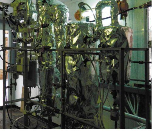 Рис. 2. Пилотная установка получения синтез-газа паровой конверсией природного газа