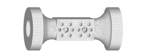 Рис. 6. Конечно-элементная модель цилиндра