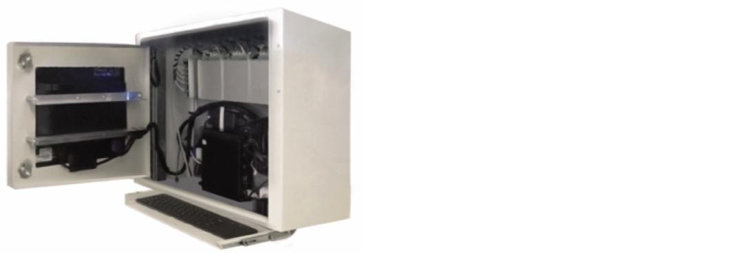 Рис. 3. Мобильная система мониторинга, преобразованная в стационарную, и система диагностики, объединяющая несколько несвязанных систем единой сетью Ethernet