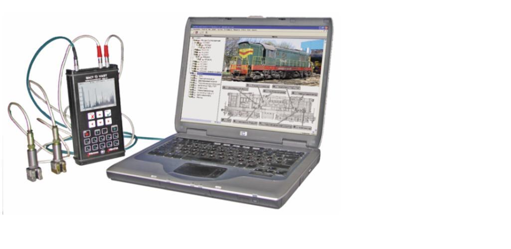 Рис. 4. Переносная система вибродиагностики на базе сборщика данных (виброанализатора) СД-21 (а) и сборщик данных (виброанализатор) СД-22 (б)