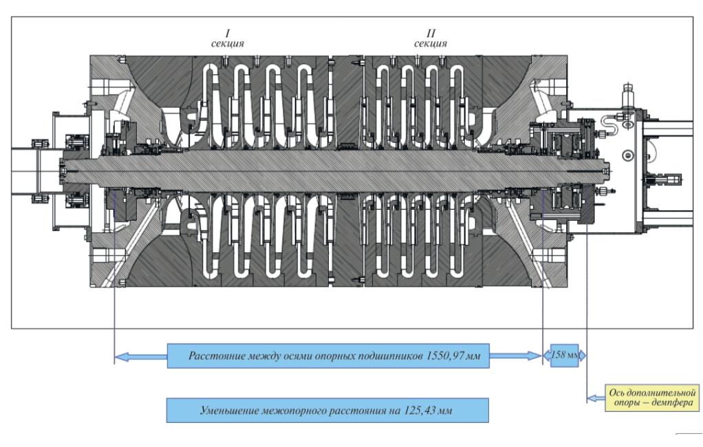 Рис. 8. Модернизированный КНД с установленными узлами
