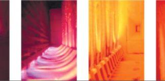 Рис. 5. Работа газовых горелок на печах предприятий нефтепереработки (а, б) и нефте-и газохимии (в, г): а – круглое пламя; б – плоское пламя; в – плоское пламя (пиролиз этилена); г – направленное вниз пламя (паровой риформинг аммиака, метанола, водорода)