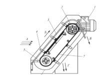 Рис. 1. Устройство для непрерывной механической очистки производственных сточных вод