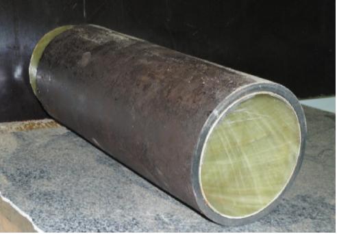 Рис. 5. Общий вид стальной (Ст4, ГОСТ 380–80) трубы, футерованной стеклопластиковой оболочкой по технологии термодеформирования