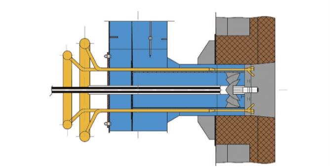 Рис. 3. Горелка для сжигания побочных продуктов нефтепереработки