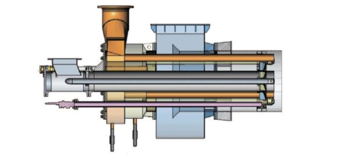Рис. 5. Горелка для сжигания генераторного и полукоксового газов