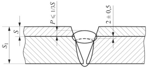 Рис. 1. Расположение переходного слоя в сварном шве двухслойной стали