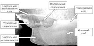 Рис. 2. Поперечный разрез сварного соединения в месте разрушения 7 февраля 2006 г. емкости для хранения пропановой фракции