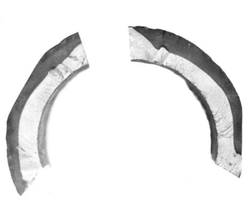 Рис. 2. Характер трещины в районе сварного шва