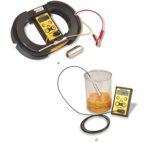 Рис. 1. Термометр ONECAL с кабелем 50 м (а) и с кабелем 2 м (б)