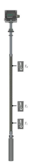 Рис. 2. Термометр ГЕРДА-ТМ с грузом и соединительной коробкой