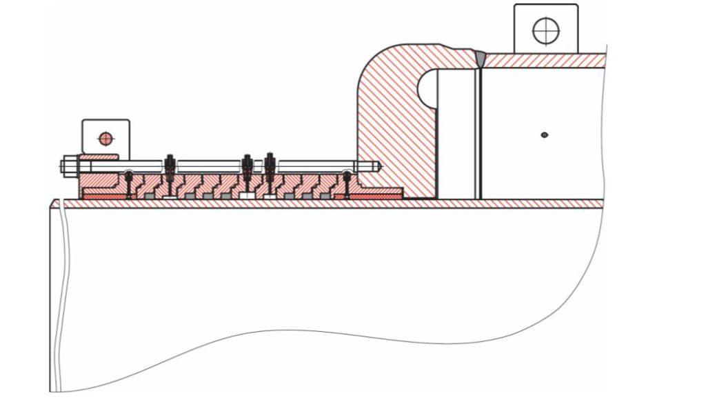 Конструкция сальникового компенсатора