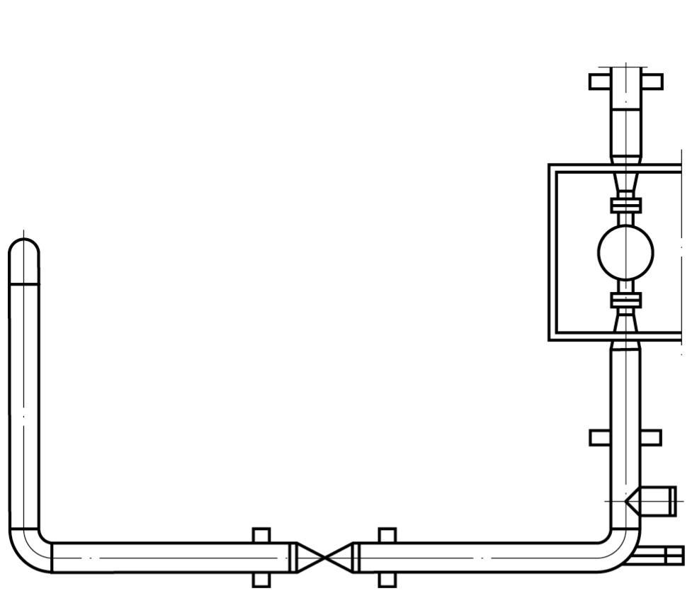 Рис. 2. Участок трубопровода обвязки газоперекачивающего агрегата