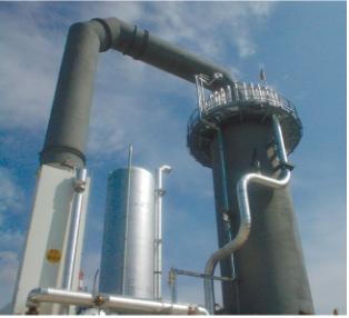 Рис. 5. Печь водородного риформинга на Юрхаровском месторождении с горячим коллектором с наружной теплоизоляцией